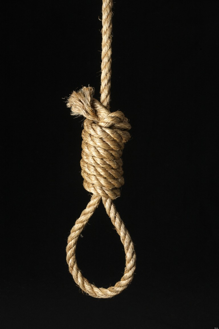 Noose on Black Background